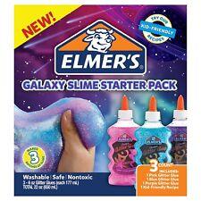 Elmer's Galaxy Slime Starter Kit with Purple, Pink & Blue 6 oz Glitter Glue