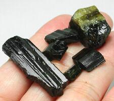 79.5Ct Nigerian Natural Green Tourmaline Crystal Facet Rough Specimen YNR7