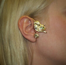JoliKo Ohrringe Ohrklemme Ear cuff Katze Miau Miezekatze Cat Chat Gold pl RECHTS