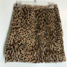 New DOUBLE D RANCH Leopard Print Hair on Hide Skirt Size 4 $695