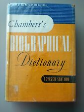 Chambers Biographical Dictionary - 1957 - dust jacket.