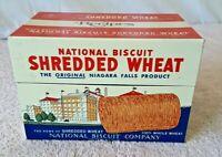 Vintage 1973 ~ NABISCO Promo Card Box w/ Shredded Wheat Recipes Collectible USA