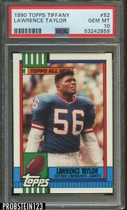 1990 Topps Tiffany #52 Lawrence Taylor New York Giants HOF PSA 10 GEM MINT