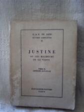 D.A.F. de sade, (Georges Bataille), Justine, 1966, Jean-Jacques pauvert, paris