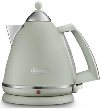 Delonghi Argento Flora 1.7L Cordless Designer Kettle - Retro - Green - Brand New
