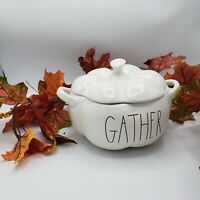Rae Dunn Pumpkin Shaped GATHER Serving Dish Artisan Collection