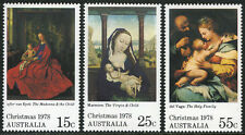 Australia 688-690, MNH. Christmas. Paintings from National Gallery, 1978