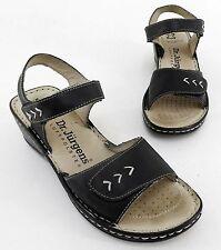 Damen-Sandalen & -Badeschuhe mit Keilabsatz/Wedge im Knöchel-/Fesselriemen-Stil ohne Muster für Mittlerer Absatz (3-5 cm)