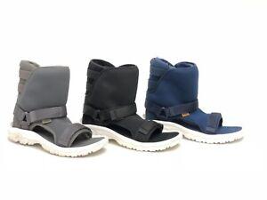 UGG / TEVA COLLAB Black Iris Grey SHEEPSKIN SPORTY HYBRID BOOTS SANDALS 1018220U