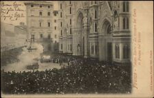 Firenze Italy Crowded Street - Ceremony c1900 Used Postcard