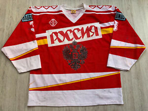 1990's Russia USSR Game Worn СССР Ice Hockey Jersey Shirt TACKLA Size XL #3