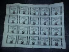Planche de 20 Assignats dix Sous - Loi 24 octobre 1792 Série 606 Signature GUYON
