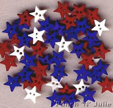 STAR SPANGLED Queen England Australia USA Christmas Red Blue Tiny Craft Buttons