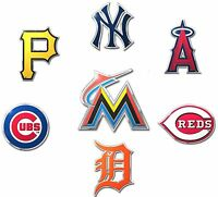 Die-Cut Metal Auto Emblem [COLOR] MLB Car Decal Sticker - Pick Team