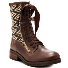 NIB Kensie Girl BOSS Riding Lace Up Zipper Mid Calf Boots Shoes Sz 9 M