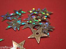 100 Sterne Silber Streuelemente Streudeko  Basteln Kartengestaltung ca:10mm