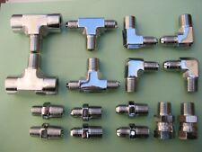 Lowrider Hydraulics Fittings Kit, Chrome & Polished, New,16 pcs set