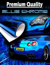 2 x A4 Sheets Air Drain Blue Mirror Chrome Vinyl Film Car Wrap Sticker