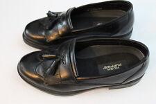 Men's Hush Puppies Black Leather Wing Tip w/ Tassel Loafers slip on dress 7.5M
