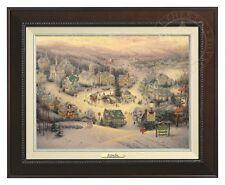 Thomas Kinkade - St. Nicholas Circle – Canvas Classic (Espresso Frame)