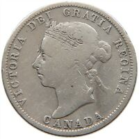 CANADA 25 CENTS 1899 #s12 101