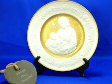 Franklin Mint SILENT NIGHT 1976 Christmas Plate * Bavarian Bisque Porcelain EXC