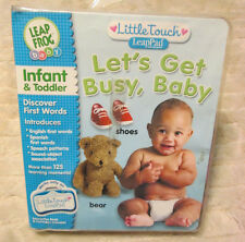 """LEAP FROG Little Touch Library """"LET'S GET BUSY BABY"""" Infant & Toddler"""