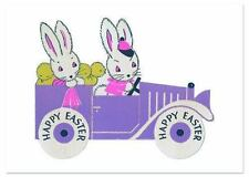 Bunnies on a Sunday Drive Easter Greeting Card (Miscellaneous Print)