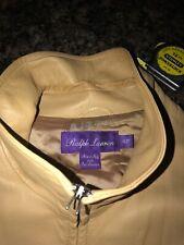 ralph lauren purple label mens leather jacket X- Large tan lightweight