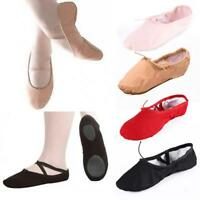 Adult Child Canvas Soft Ballet Dance Slippers Pointe Gymnastics Shoes jzus