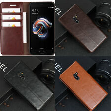 For XiaoMi 6/A1/4S NOTE 2/3 MAX2 Genuine Real Leather Flip Wallet Case Cover