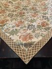 """BLOOMINGDALE'S At Home 56"""" Square Tablecloth Tapestry Unused Made In Portugal"""