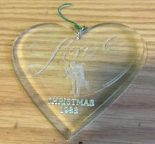 1983 Love Heart Christmas Ornament