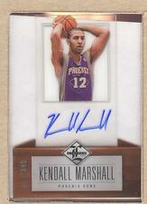 Kendall Marshall 175 2012-13 Limited Acetate Autograph Auto 018/349 (card spot)