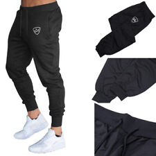 Mens Tracksuit Sport Gym Slim Fit Skinny Jogging Joggers Sweat Pants Trousers XL