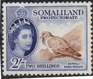 SOMALI LAND. 1953.ROCK PIGEON.2s. SG# 146.  MOUNTED MINT..