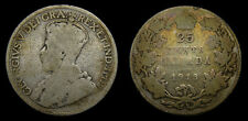 1913 Canada Silver 25 Cents G-4 George V Twenty-Five Cent Piece Toned