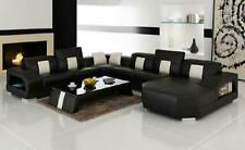 Wohnlandschaft Couch Polster Eck Garnitur Designer Ledersofa Big Sofa  Trier2