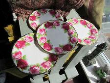 "Vintage Royal Albert Old English Rose 4 Side Plates 6""."
