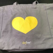 DRYBAR Shopping/Beach Gray TOTE bag with Yellow Heart