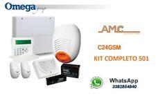 KIT ALLARME FILARE AMC ITALIA C24PLUS GSM ANTIFURTO COMPLETO DI BATTERIE KIT 501