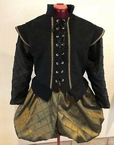 Mens Elizabethan Shakespeare Renaissance Doublet and Slops/Breeches, Sm - XL