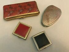 Fiancee Woodworth Stratton England Art Deco 1920s Antique Compacts Pill Box Lot