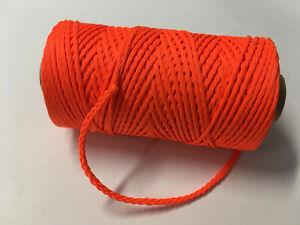 Maurerschnur neon, leuchtend orange 2 mm x 100 m, Lot Pflasterschnur Richtschnur