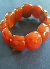 Red Agate Beaded Bracelet (Stretchable) 86.00 Carats