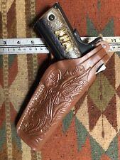 Fits Colt 45 Govt Model 1911 Tanned Leather Thumb Break Holster