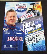 Richie Crampton Lucas Oil Top Fuel NHRA Autographed HANDOUT/POSTCARD