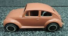 1960's Volkswagon VW Beetle Bug Coral Sedan  Promo Plastic Car Friction 2 Door