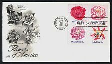 #1879a 18c Flowers, Art Craft FDC **ANY 4=FREE SHIPPING**