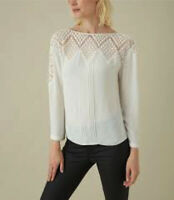 BNWT Karen Millen Embroidered Lace Blouse UK 14 RRP £110